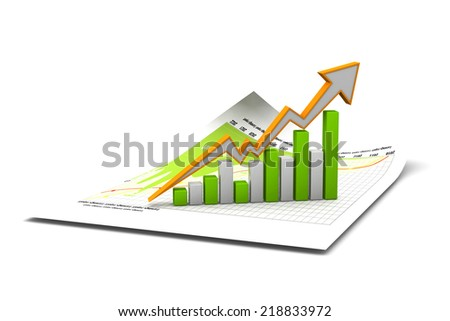 Economical chart and graph - stock photo