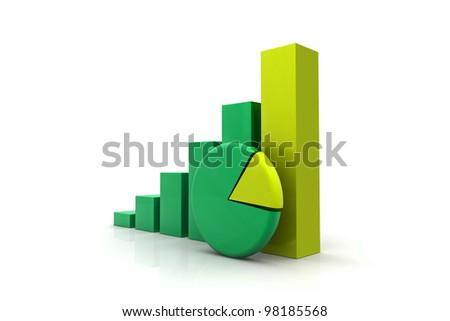 economical graph New concept - stock photo