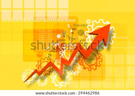 Economical stock market graph in abstract background - stock photo