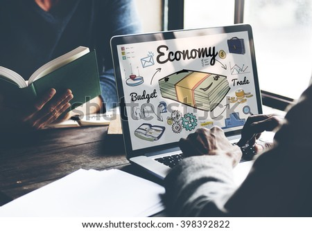 Economy Budget Trade Spending Money Concept - stock photo