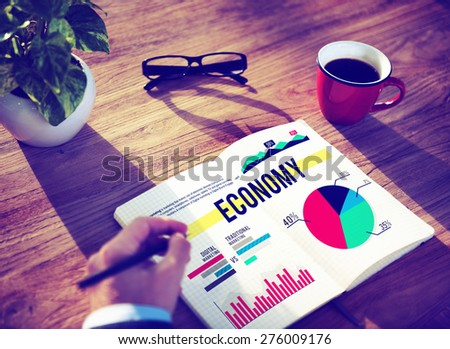 Economy Business Finance Marketing Budget Concept - stock photo