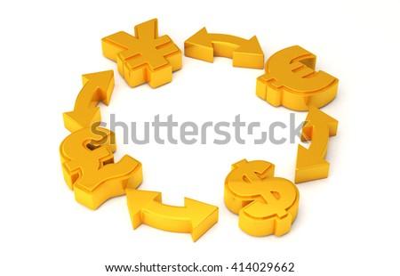 Economy concept. 3D rendering - stock photo