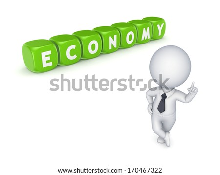 Economy concept.Isolated on white.3d rendered. - stock photo