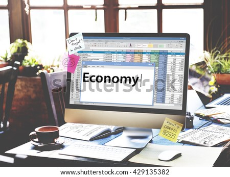 Economy Financial Investment Revenue Banking Concept - stock photo