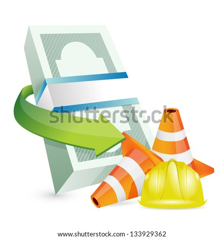 economy protection barrier illustration design over a white background
