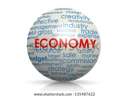 Economy sphere - stock photo