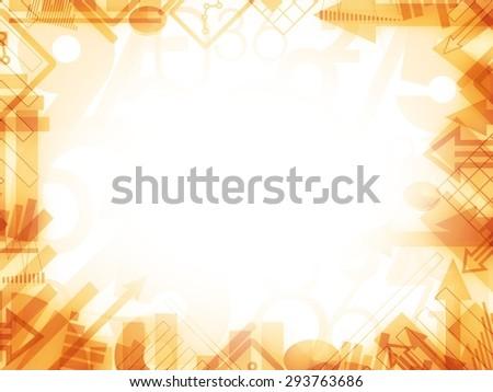economy statistics background frame illustration - stock photo