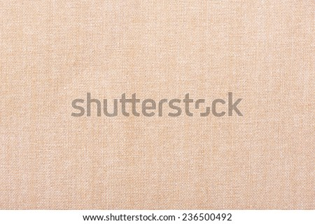 Ecru canvas textured cloth abstract, bright rough plain seamless surface background in horizontal orientation, nobody. - stock photo