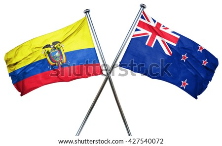 Ecuador flag  combined with new zealand flag
