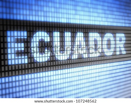 Ecuador.  Full collection of icons like that is in my portfolio