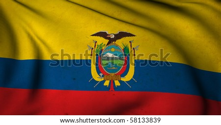 Ecuador Flag World Flags Collection Stock Illustration - Ecuador flags