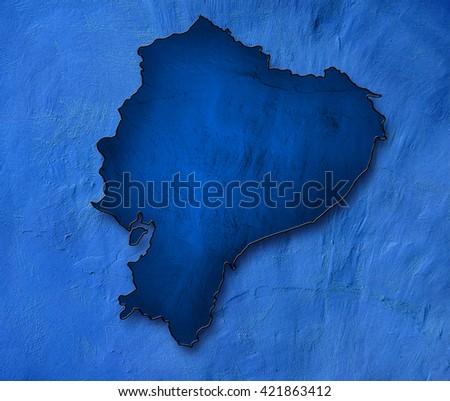 Ecuador map - stock photo