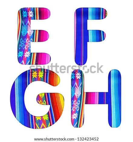 ecuadorian alphabet - stock photo