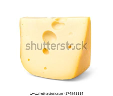 Edam cheese slice - stock photo