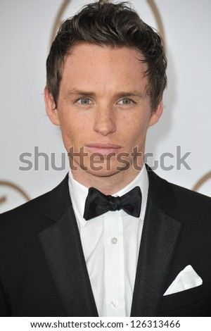 Eddie Redmayne at the 2013 Producers Guild Awards at the Beverly Hilton Hotel. January 26, 2013  Los Angeles, CA Picture: Paul Smith