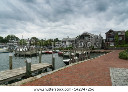 Edgartown Harbour - stock photo