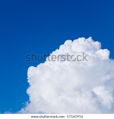 Edge of a large white cloud - stock photo