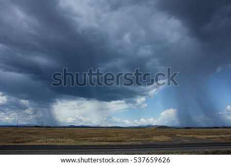 Edge of rainstorm