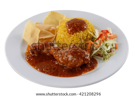 Edge-out Food ( Rendang Chicken Rice )