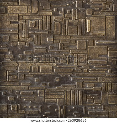 Edge pattern bronze texture - stock photo