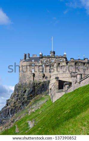 Edinburgh Castle, Eastern view, Scotland - stock photo