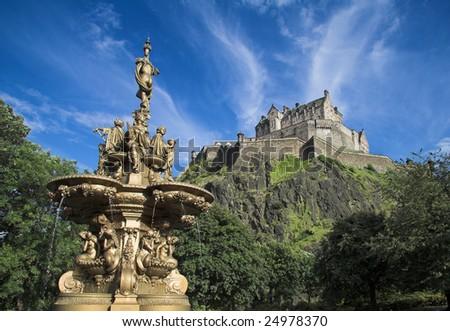 Edinburgh Castle, Scotland - stock photo