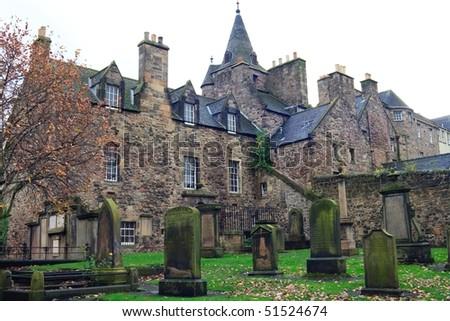Edinburgh cemetery - stock photo