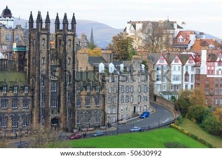 Edinburgh House Facades - stock photo