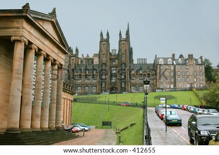 Edinburgh Museum and The place where the new scottish church was voted - stock photo