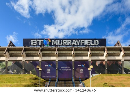 EDINBURGH, SCOTLAND - AUGUST 29:  BT Murrayfield, pictured on August 29, 2015, is a sports stadium primarily used for rugby union matches.  The stadium is the home of the Scottish Rugby Union.