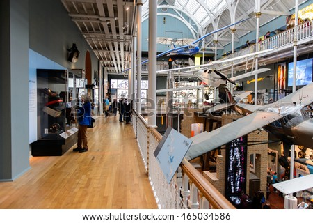 EDINBURGH, SCOTLAND - JULY 17, 2016: National Museum of Scotland. It was renovated in 2011