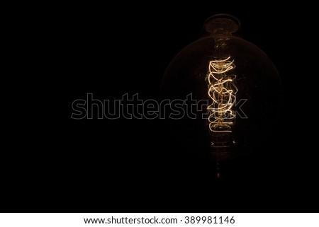 Edison light bulb  - stock photo