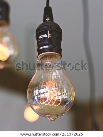 Edison light bulbs,vintage light bulbs - stock photo