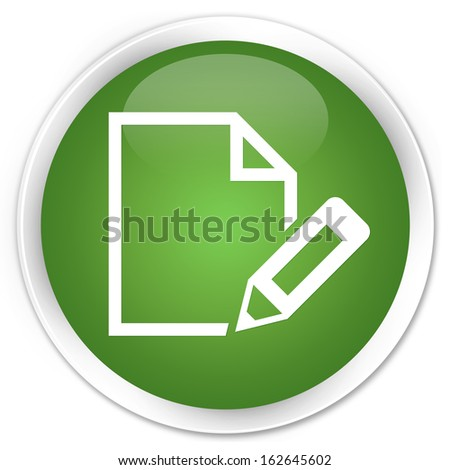 Edit page icon green button