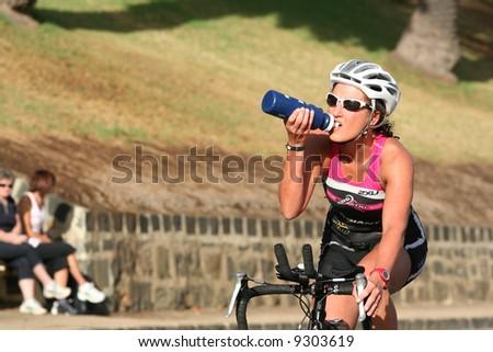 Editorial Australia Geelong waterfront triathlon - stock photo