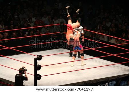 Editorial WWE wrestling - stock photo