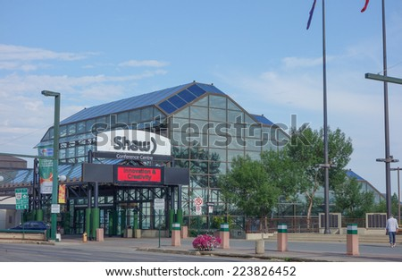 EDMONTON, CANADA - AUGUST 8, 2014: The Shaw Conference Centre is a meeting entertainment and convention venue