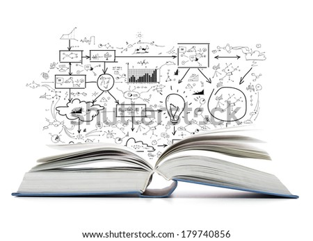 education and book concept - open book on the table - stock photo