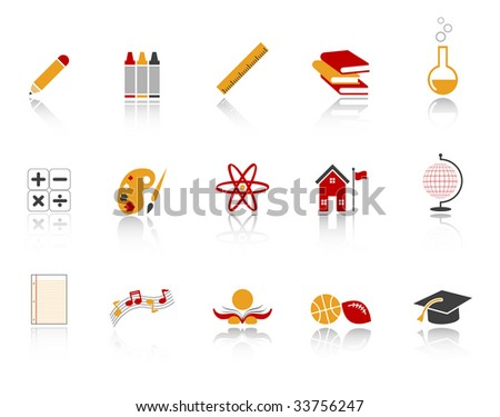 education and school icon set. high res JPG - stock photo