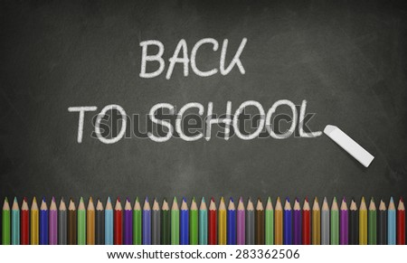 Education, Back to School Concept, Blackboard