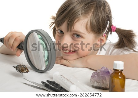 education biology for children - stock photo