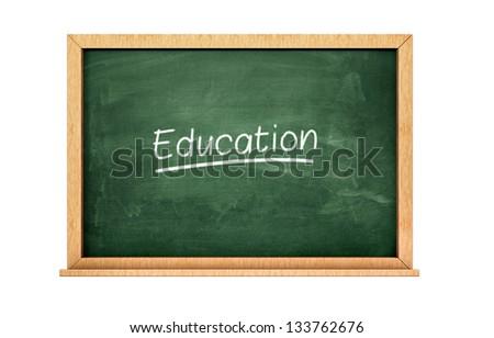 Education chalkboard ! - stock photo