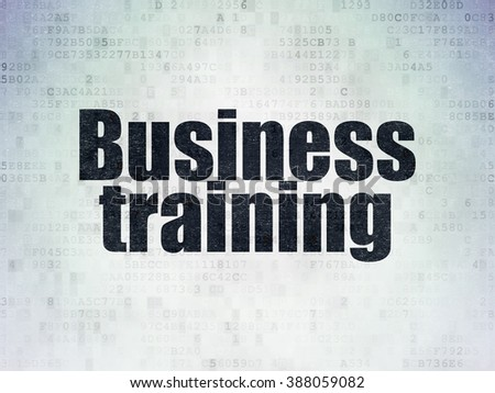 Education concept: Business Training on Digital Paper background - stock photo