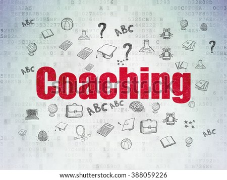 Education concept: Coaching on Digital Paper background - stock photo