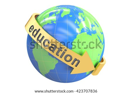 Education concept, 3D rendering isolated on white background