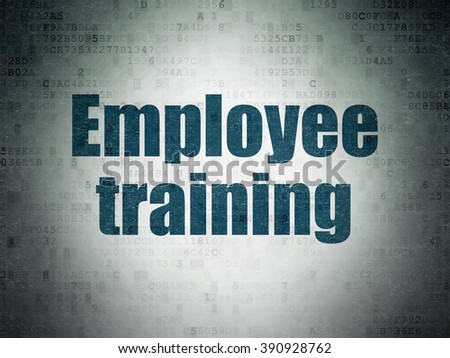 Education concept: Employee Training on Digital Paper background - stock photo