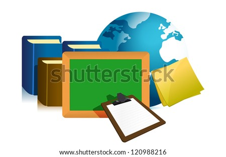 education concept illustration design over a white background design - stock photo