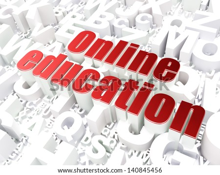 Education concept: Online Education on alphabet  background, 3d render - stock photo
