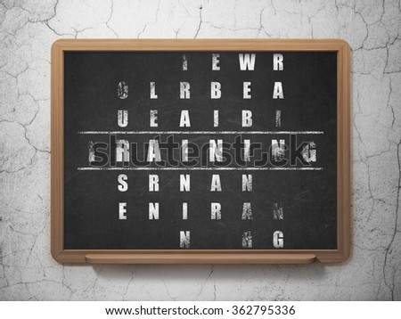 Education concept: Training in Crossword Puzzle - stock photo