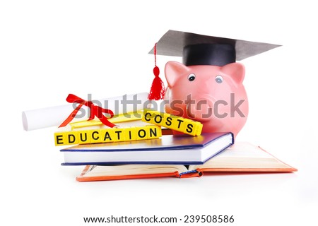 Education costs concept - stock photo